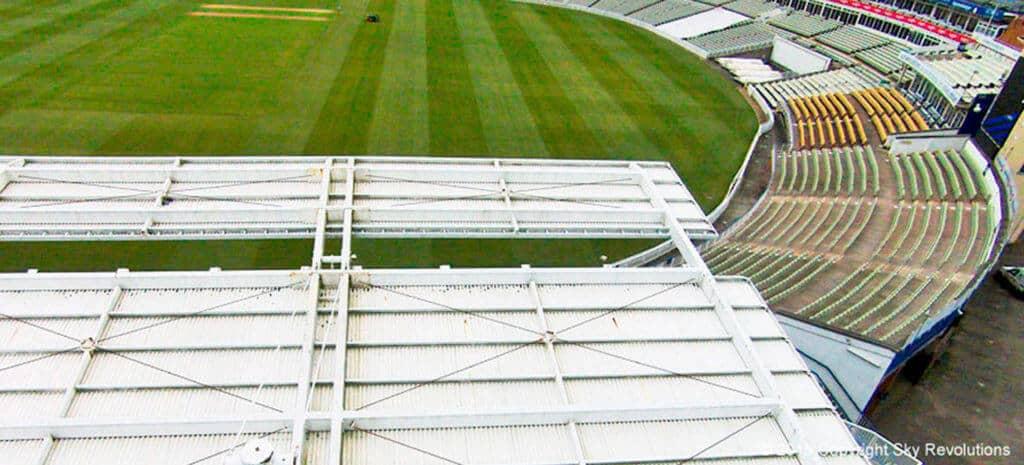 aerial imaging edgbaston cricket ground