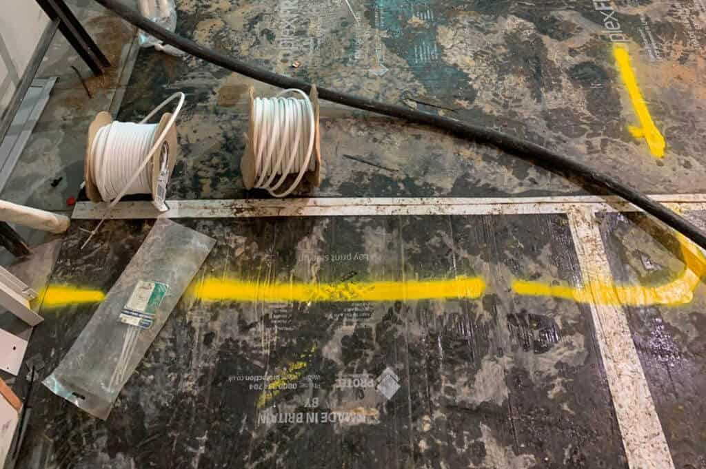 Cables and flooring
