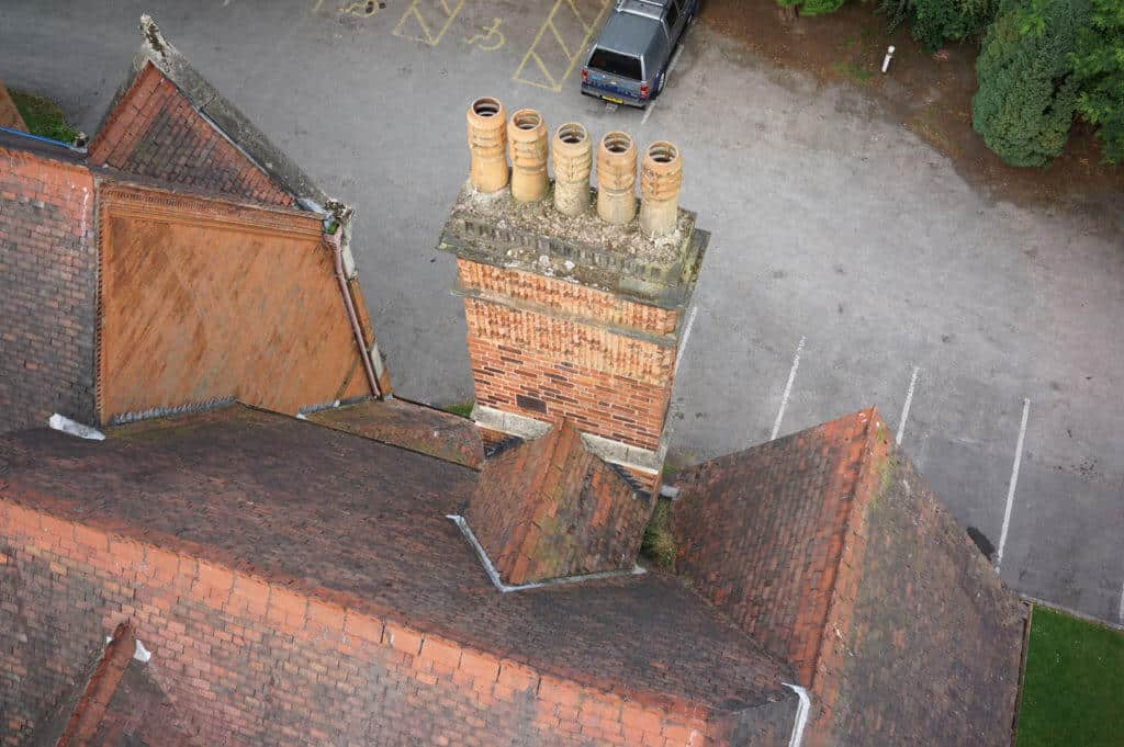 Roof survey carried out by drone