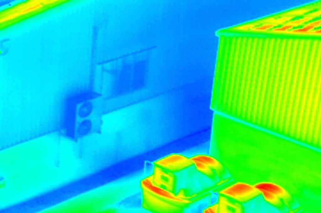 Thermal imaging data to help roof surveys