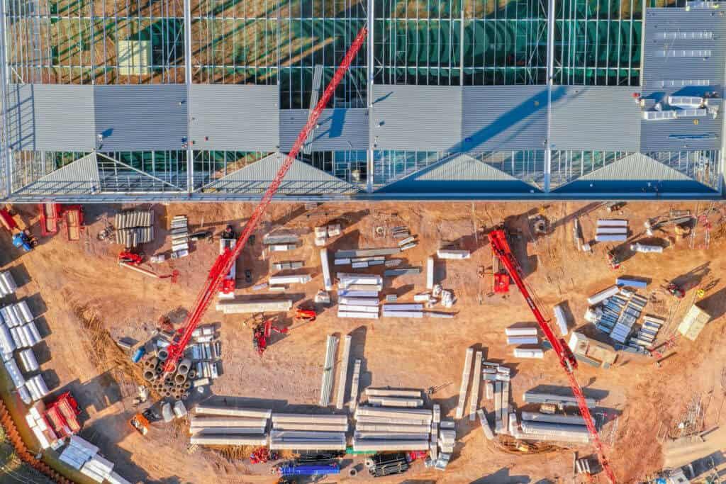Construction drone survey