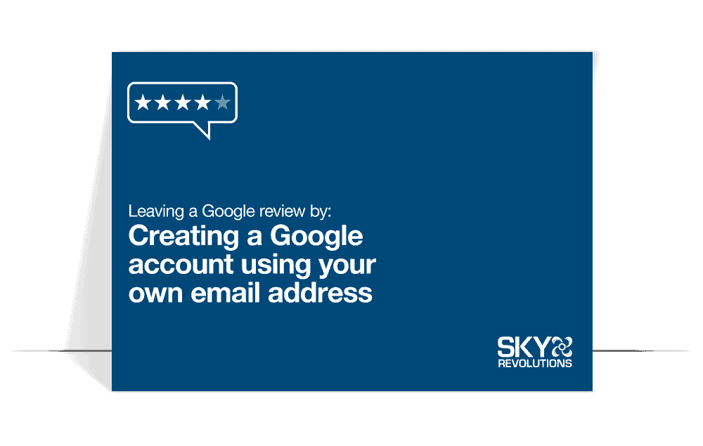 creating a google account using your own email address