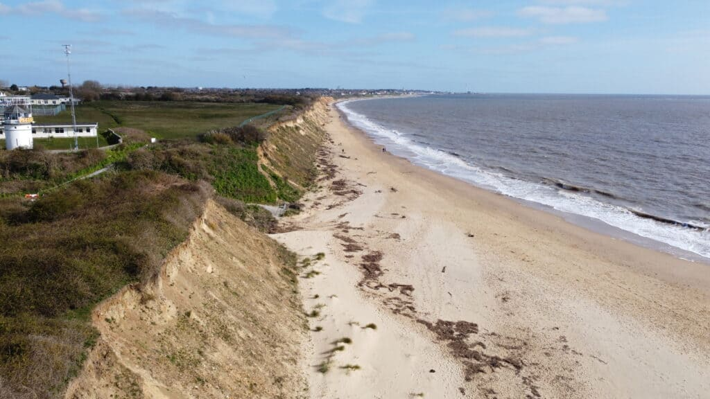 Lowestoft coast line drone survey