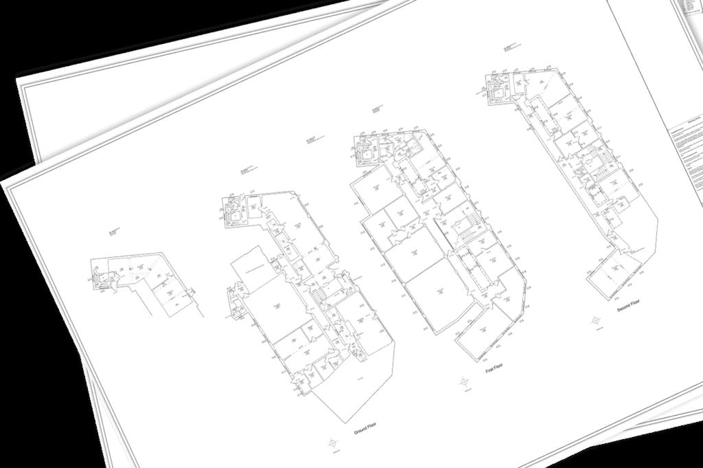 measured building survey plan