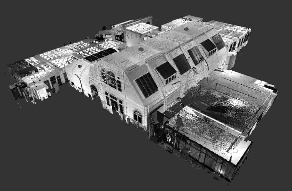 Walthamstow Library - black and white Point Cloud image